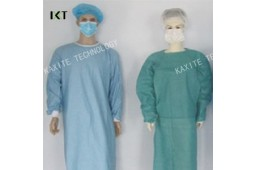 Einmaliges, chirurgisches Kleid, SMS, Vlies, Doktor Kleid, SMMS, Isolationskleid