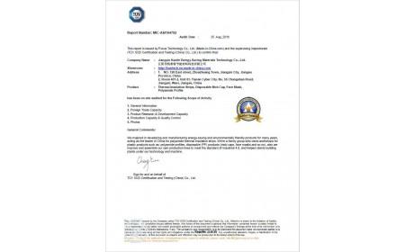 TÜV Zertifikat von Jiangyin Kaxite